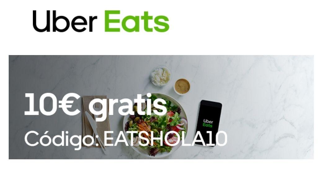 10€ de descuento con tu primer pedido en Uber Eats