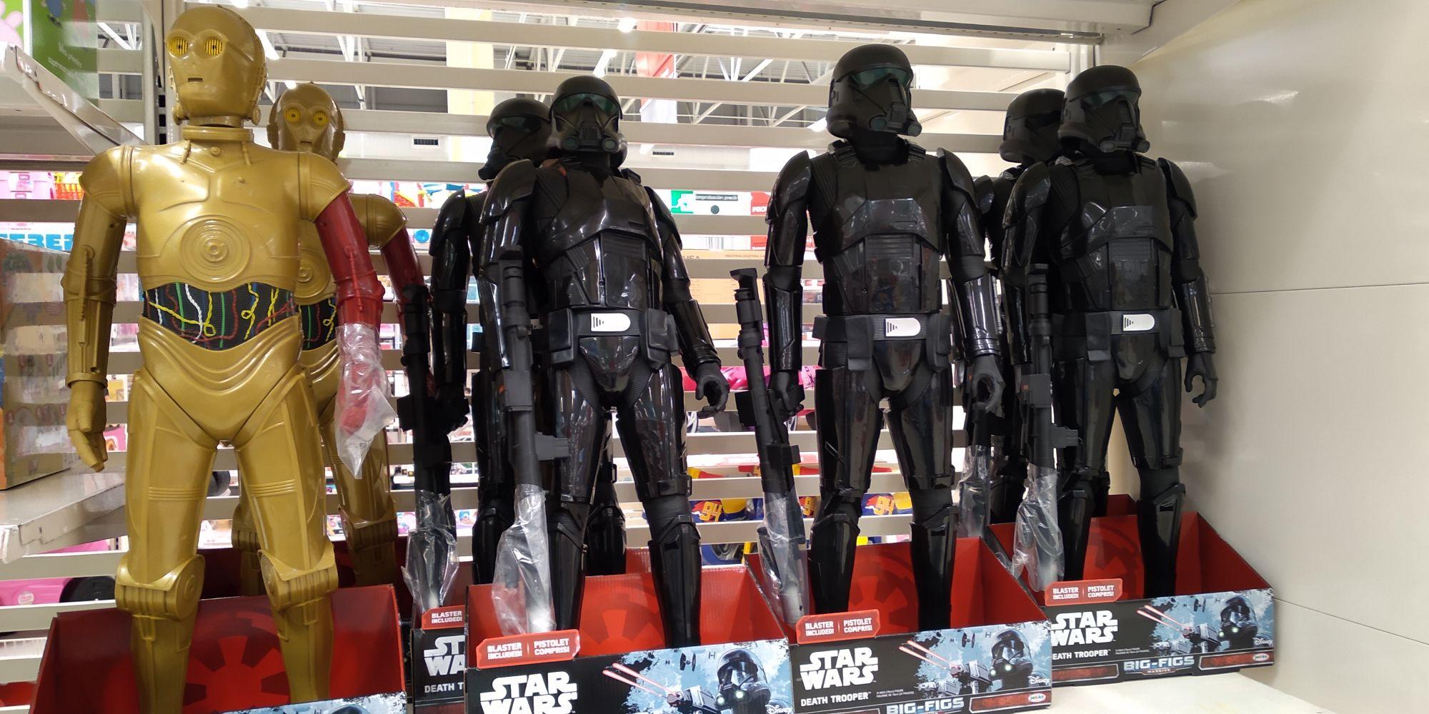 Figura Gigante C3PO o Death Trooper por menos de 20€ en Alcampo Burgos