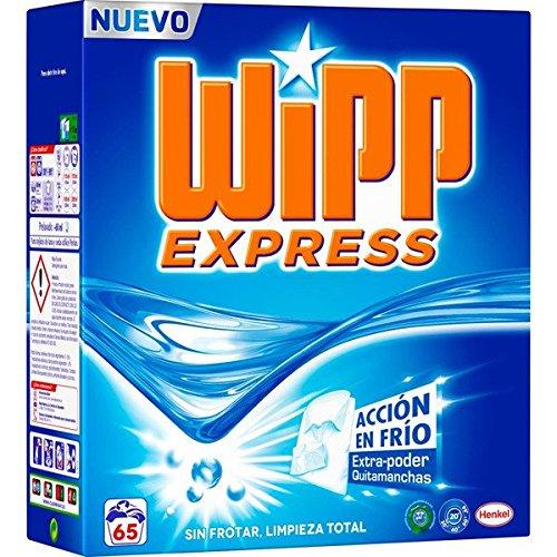 Wipp Express - Detergente para la Ropa en Polvo Acción en Frio 65 lavados