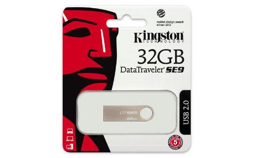 Kingston DTSE9H/32GB - Memoria USB, 32 GB, color plata