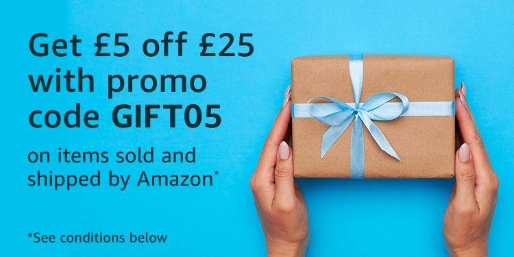5£ de descuento en 25£ para Amazon.co.uk (usuarios seleccionados)