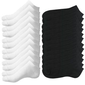 12 Pares (6 blancos+6negros) de calcetines deportivos en eBay