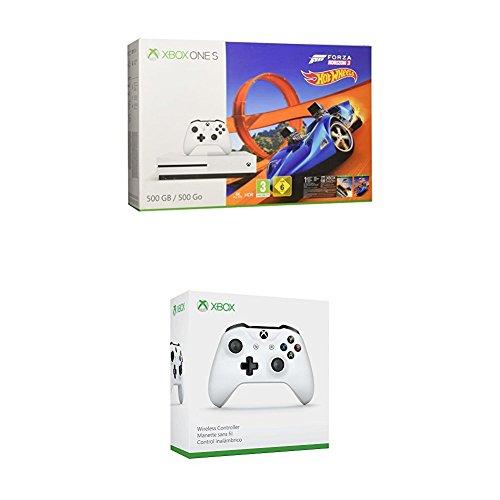 Xbox One S 500GB + Forza Horizon 3 + Hot Wheels DLC + Mando Wireless blanco extra