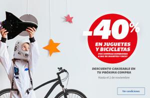 40% en cheque por compra juguetes Carrefour