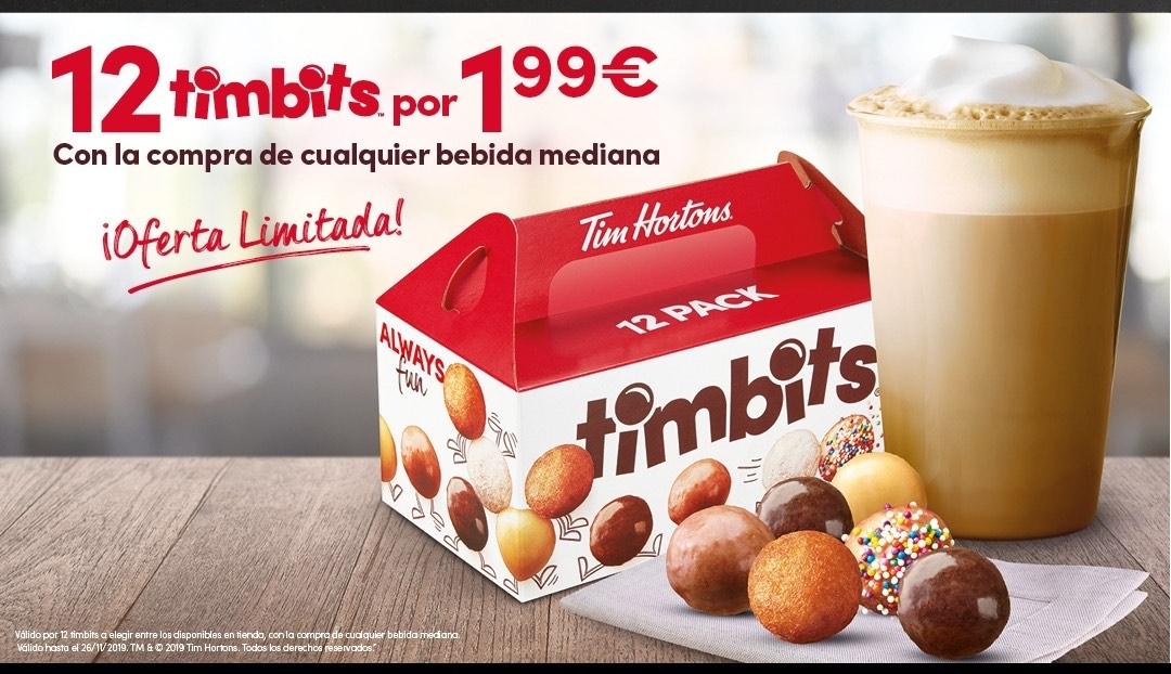 12 Timbits por 1.99€ - TIM HORTONS