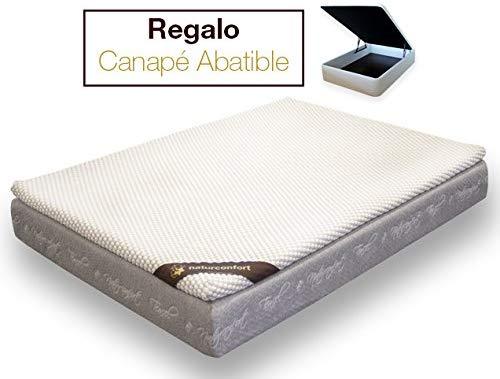 Pack Descanso, Viscoelástica Soja, Blanco, 105x190cm + Canapé de regalo