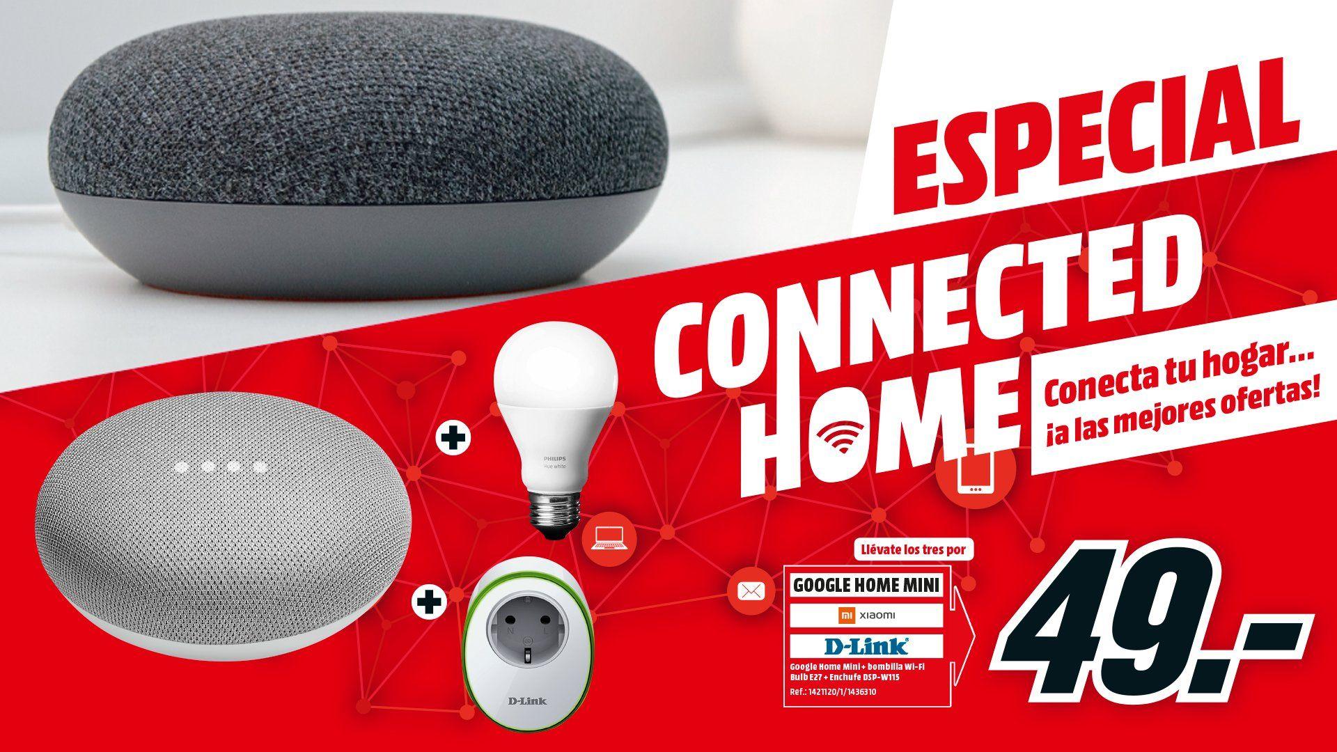 Google Home Mini + Bombilla + Enchufe por 50 euros