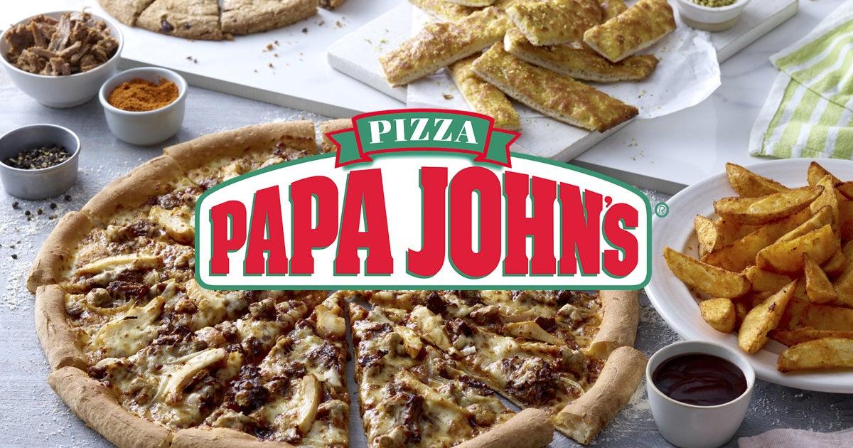 2 pizzas medianas x 14,95€ en Papa John's (Deliveroo)