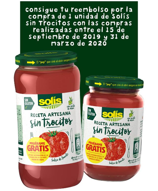 Reembolso Salsa de tomate Solís