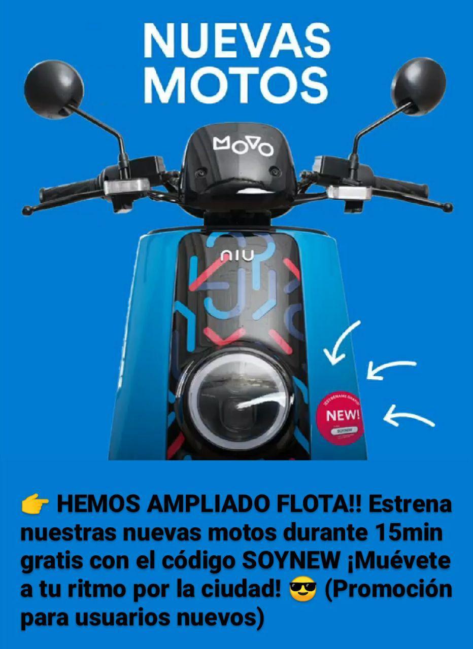 15 minutos gratis Moto MOVO (Nuevos usuarios)