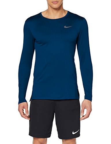 TALLA L - Nike M Nk Dry Top LS Slim Long Sleeved t-Shirt, Hombre