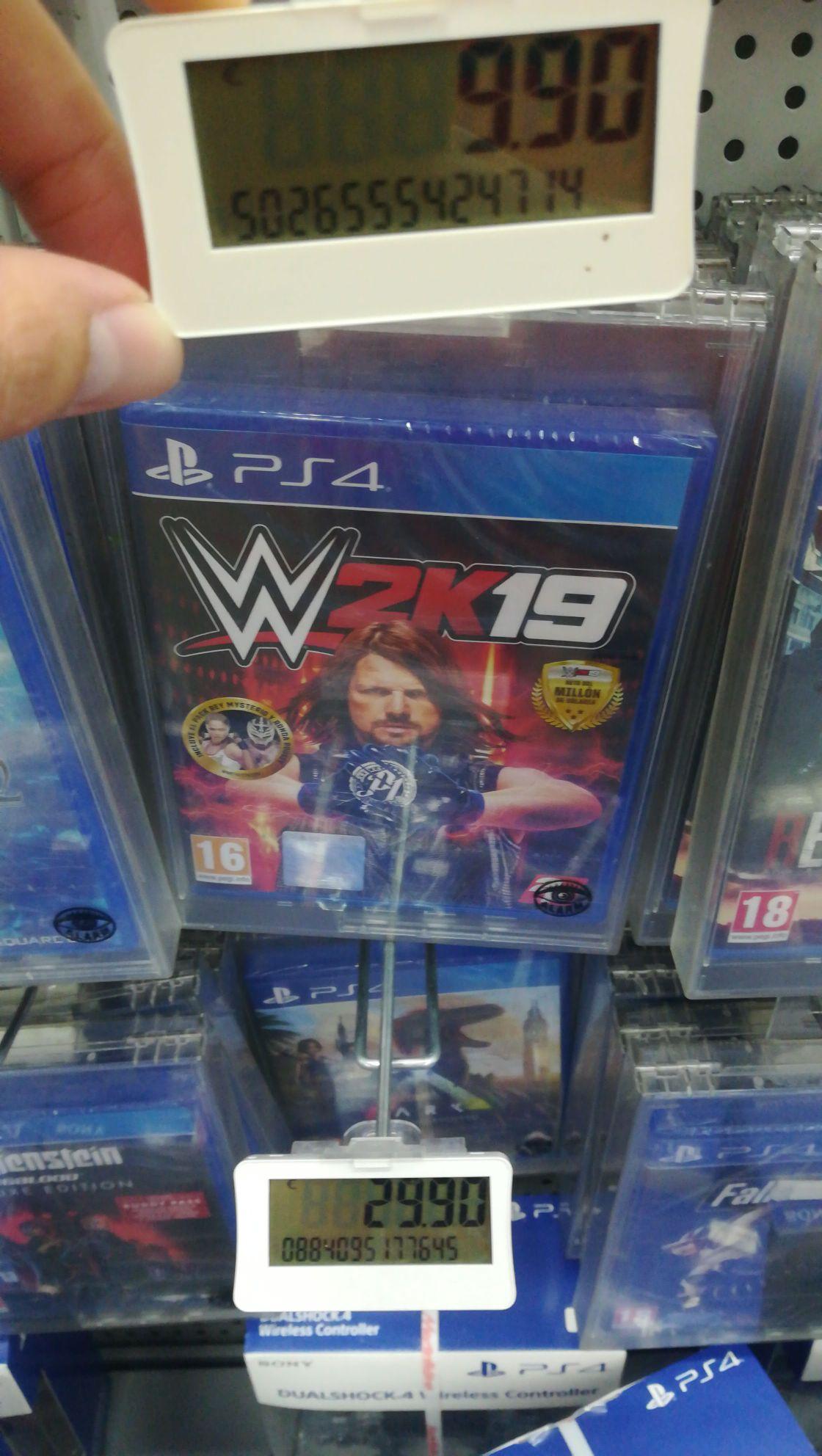WWE 2K19 PS4 mediamarkt collado villalba(Madrid)