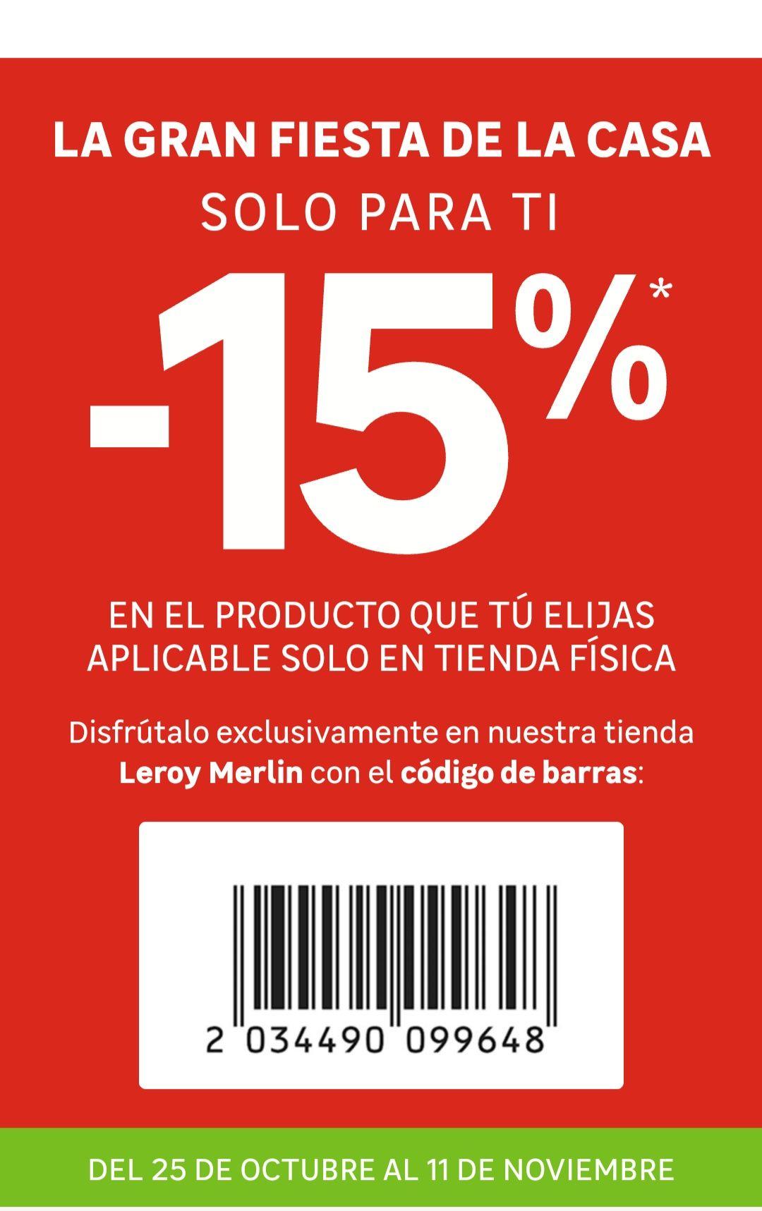 15% Descuento Leroy Merlín