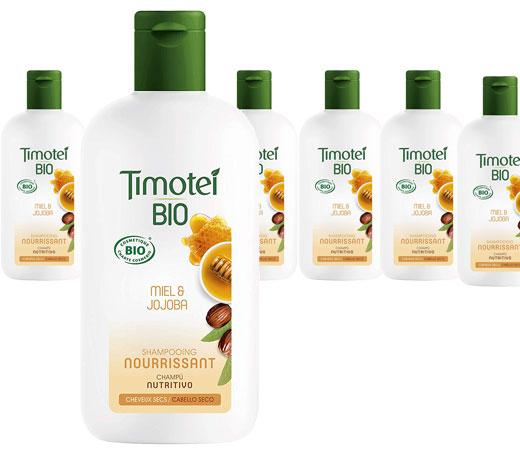 Pack de 6 x 250 ml - Timotei Bio Champú Nutritivo para Cabello Seco