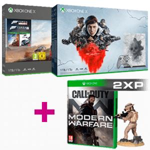 Packs Xbox One X (incluida edición especial Gears) + Call of Duty Modern Warfare