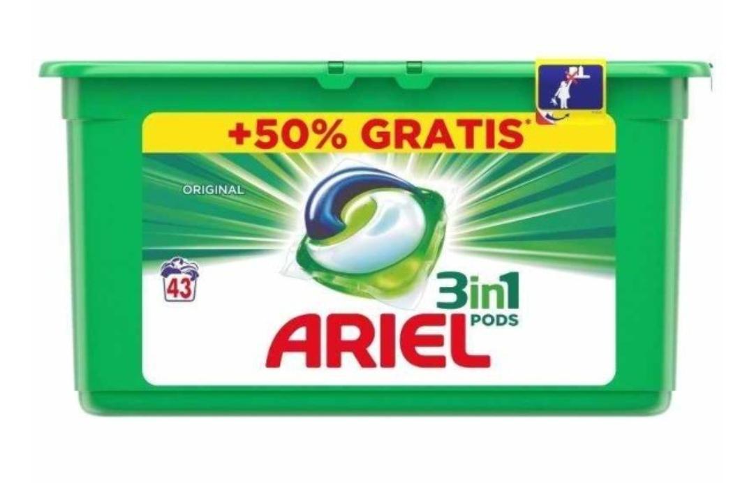 ARIEL DETERGENTE TABS 3EN1 43 (0'22€ unidad)
