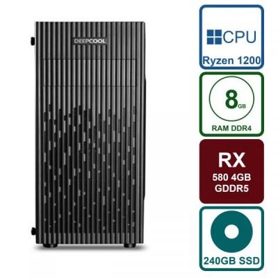 PC Gaming RX 580 4GB / Ryzen 1200 / 8GB RAM / 240GB SSD