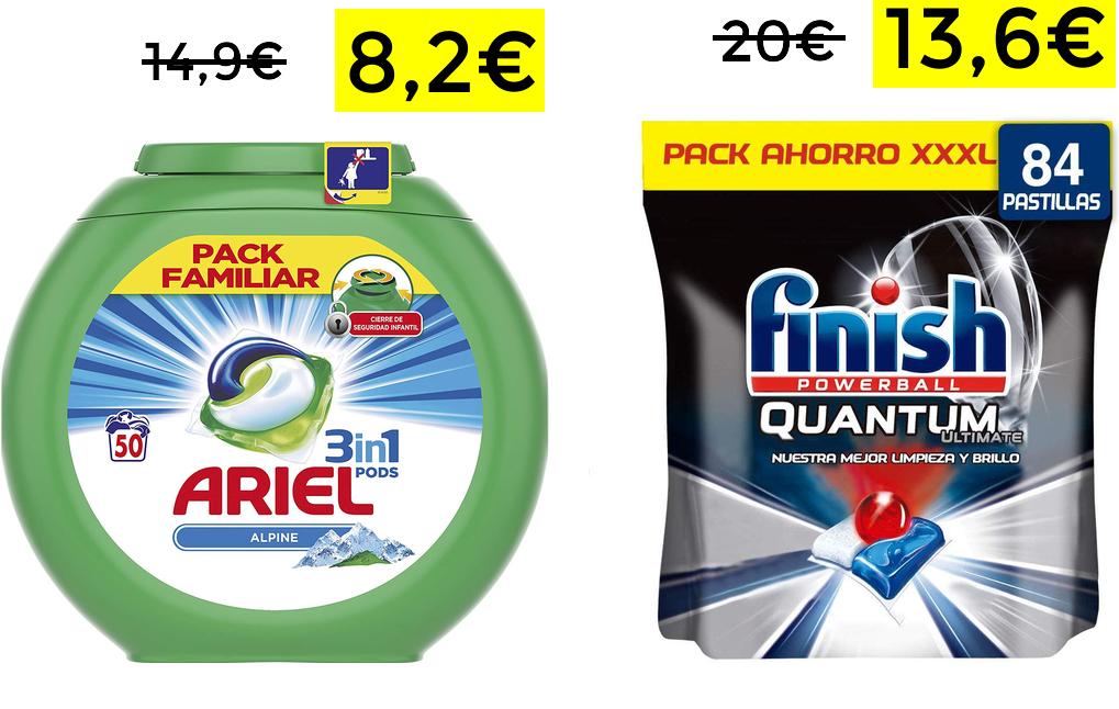 Ariel 3 en 1 50 Lavados solo 8.2€