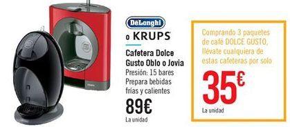 Promocion cafeteras dolce gusto en Carrefour