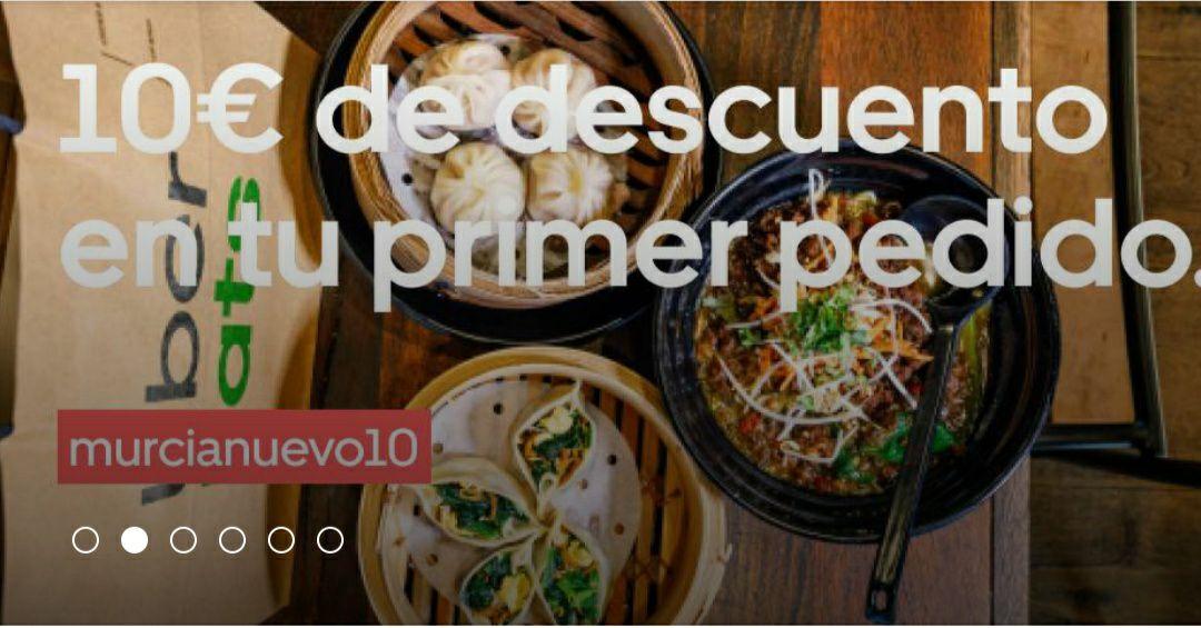 Cupón 10€ en Uber Eats (pedido mínimo 15€) Solo para Murcia