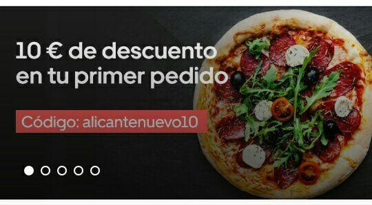 10€ de descuento en tu primer pedido en Uber Eats (solo Alicante)