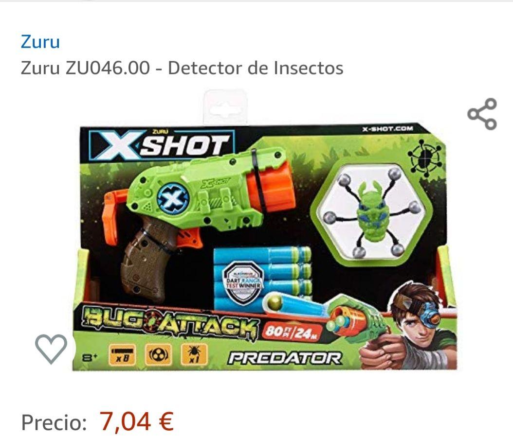 Pistola de juguete con insectos