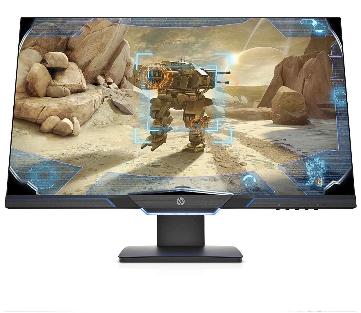 """HP 27MX - Monitor (27"""", velocidad de 144 Hz, Tecnología AMD FreeSync, iluminación ambiental, 1920 x 1080) color negro"""
