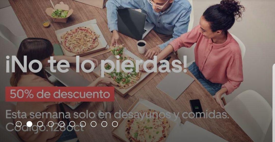 Uber Eats 50% de descuento VALENCIA y ALICANTE (Válido hasta las 19:00)