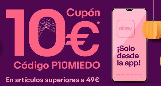 CUPON 10€ EN EBAY para artículos superiores a 49€ (solo app)