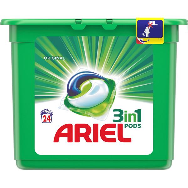 144 cápsulas detergente Ariel 3 en 1