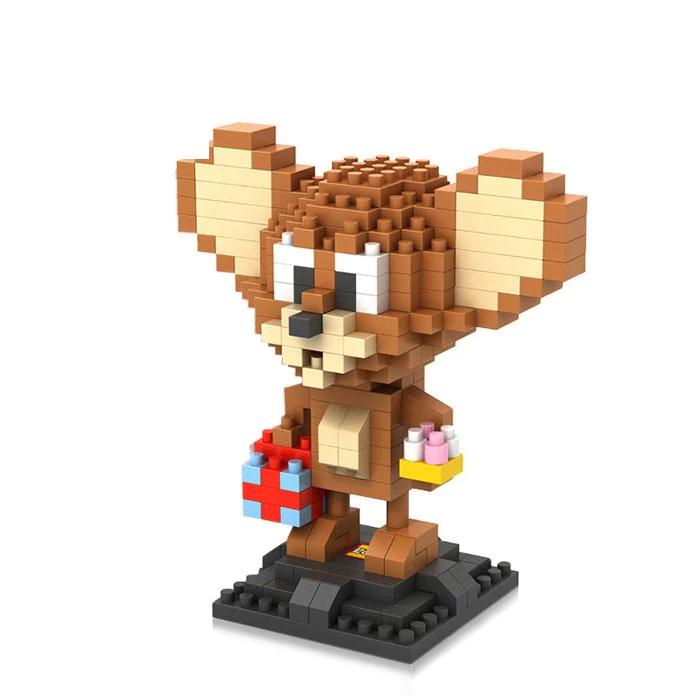 """Figura de construcción tipo LEGO """"TOM Y JERRY"""" 280 piezas (JERRY)"""