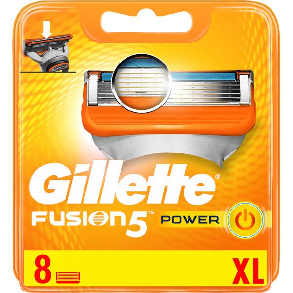 Recambio de cuchillas de cinco hojas para maquinilla de afeitar GILLETTE Fusion 5 power 8 uds.