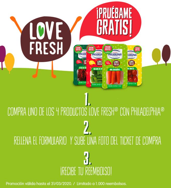 Reembolso Philadelphia Love Fresh