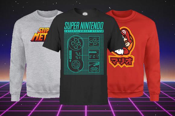 Compra una sudadera y te llevas una camiseta gratis (oficiales de Nintendo)
