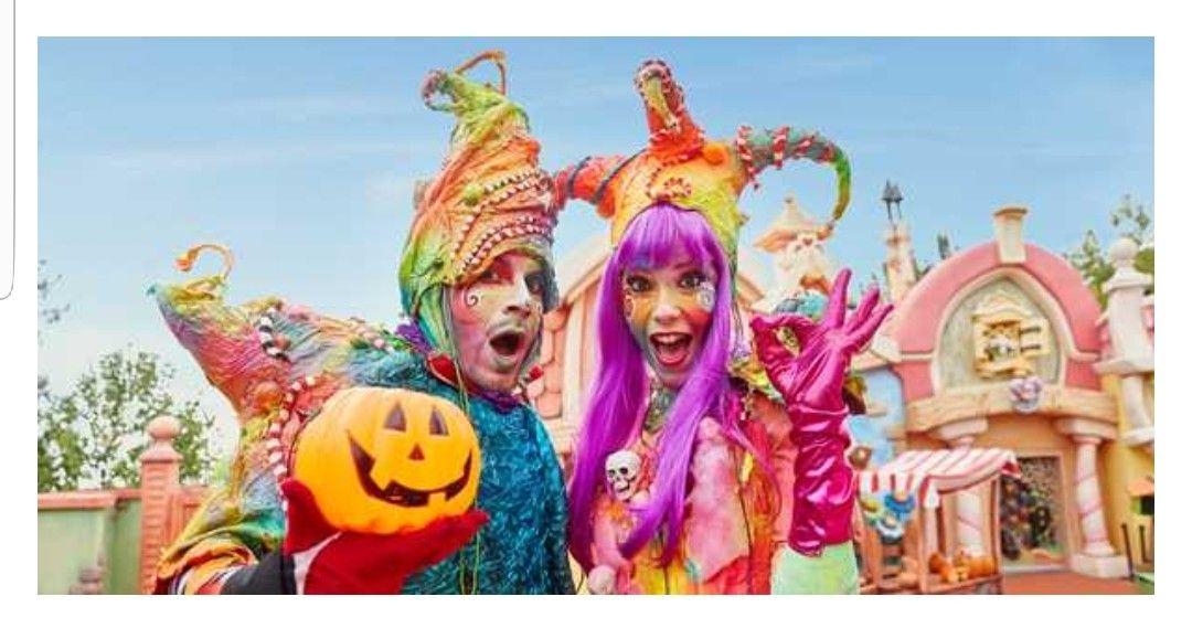 Halloween PortAventura Fin de semana para dos personas desde 120€