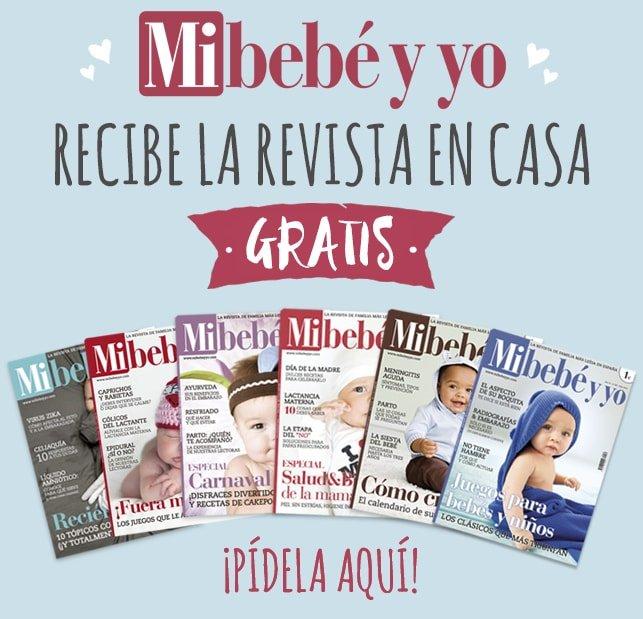 """Revista """"Mi bebé y yo"""" mensual, gratis."""