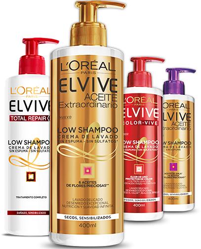 Muestra de Low Shampoo de Loreal gratis.