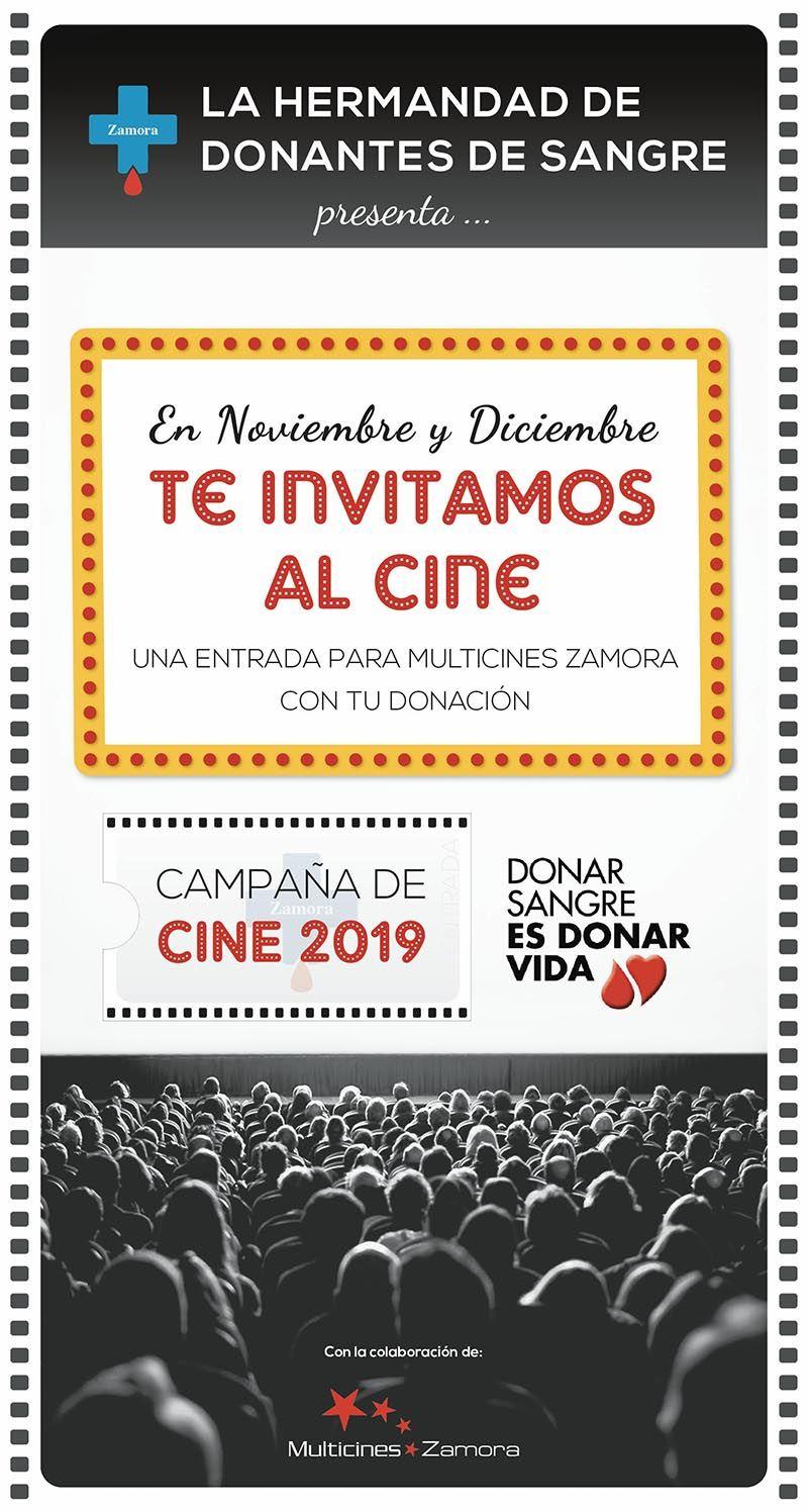 Entrada de cine GRATIS al donar sangre en Zamora