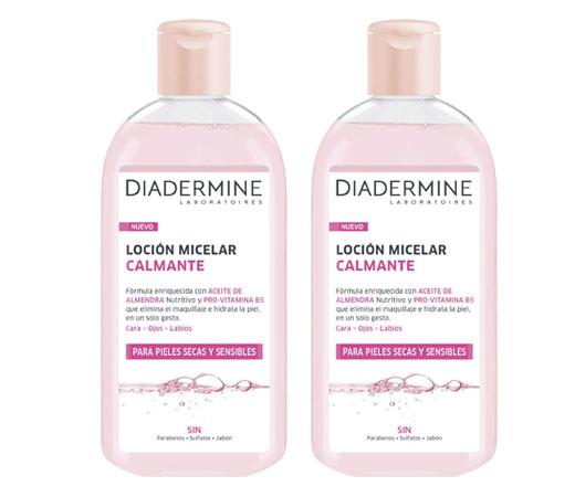 2 botellas de Diadermine Loción micelar calmante (2x400ml)