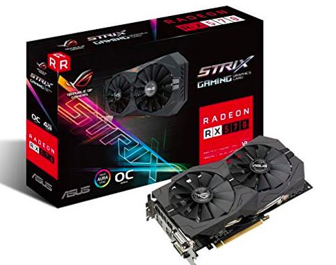 Tarjeta Gráfica AMD ASUS ROG STRIX Radeon RX 570 OC 4GB DDR5