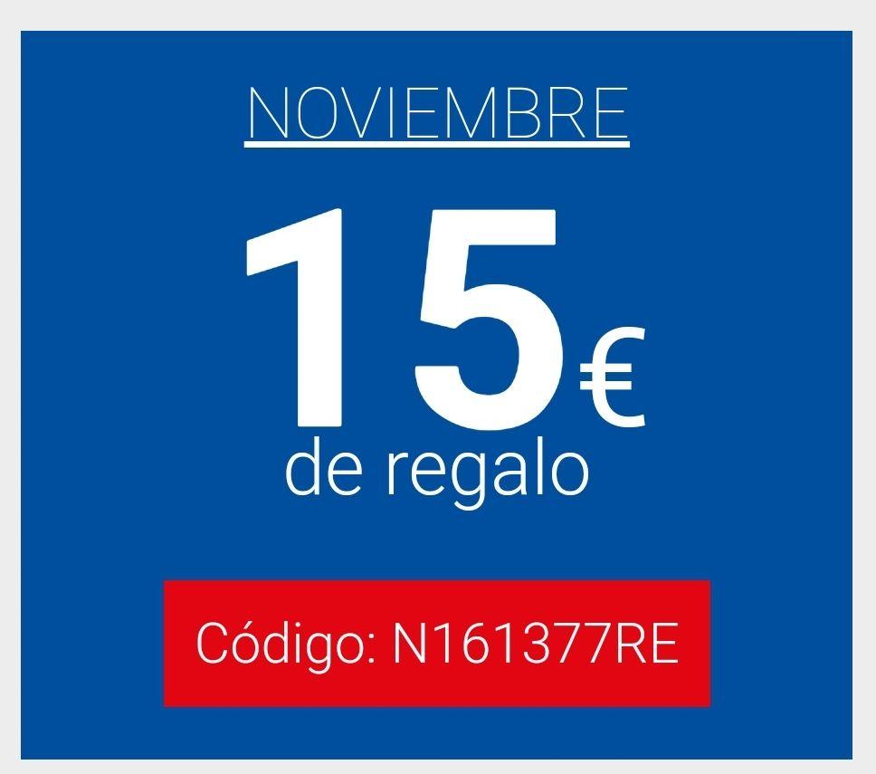 15€ Descuento TODAS LAS CUENTAS (Excepto Madrid y Barcelona). Super Online Carrefour. (Compra de 100€)