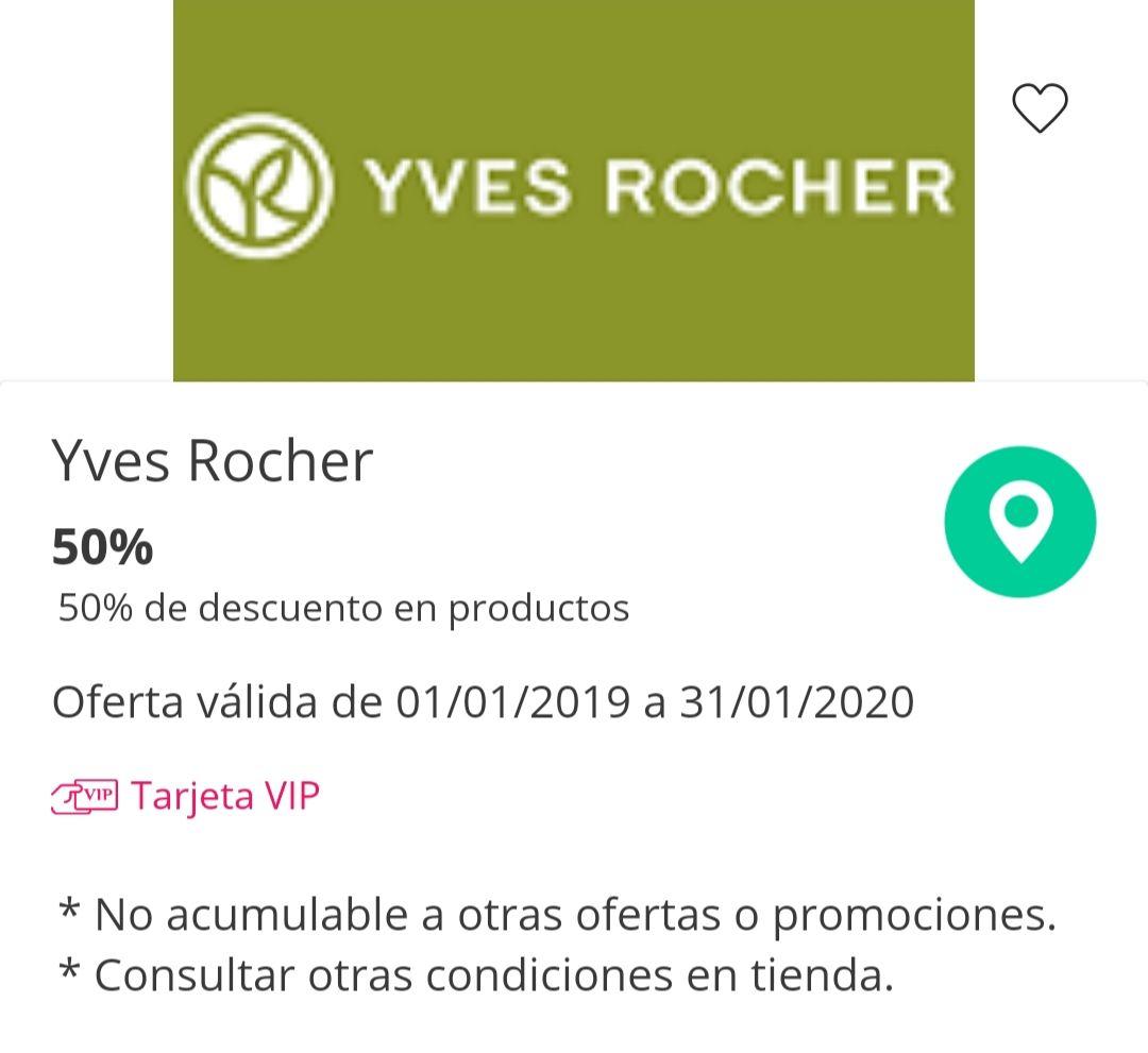 Descuento 50% IVES ROCHER en BARCELONA LA MAQUINISTA
