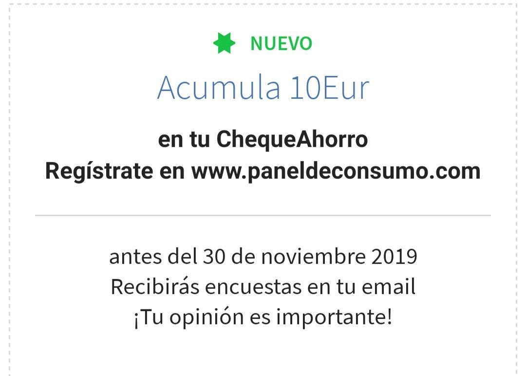 5,5€ GRATIS Cheque Ahorro Carrefour