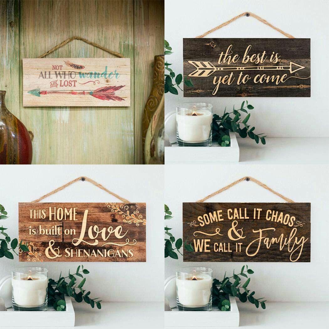 Carteles de madera decorativos
