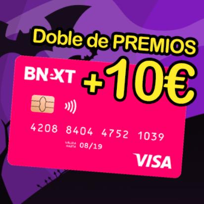 10€ GRATIS con Bnext y el doble de PREMIOS en el Desafío Chollometro
