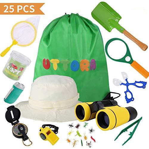 Kit de Binoculares para Niños ,Regalos para niños,Kit Explorador niños,Juguetes niños 3-12 de Aventura al Aire Libre