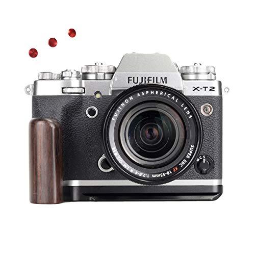 WEPOTO GP-XT2 Trípode Quick Release L Plate Metal Bracket Camera Hand Grip para Fuji X-T2