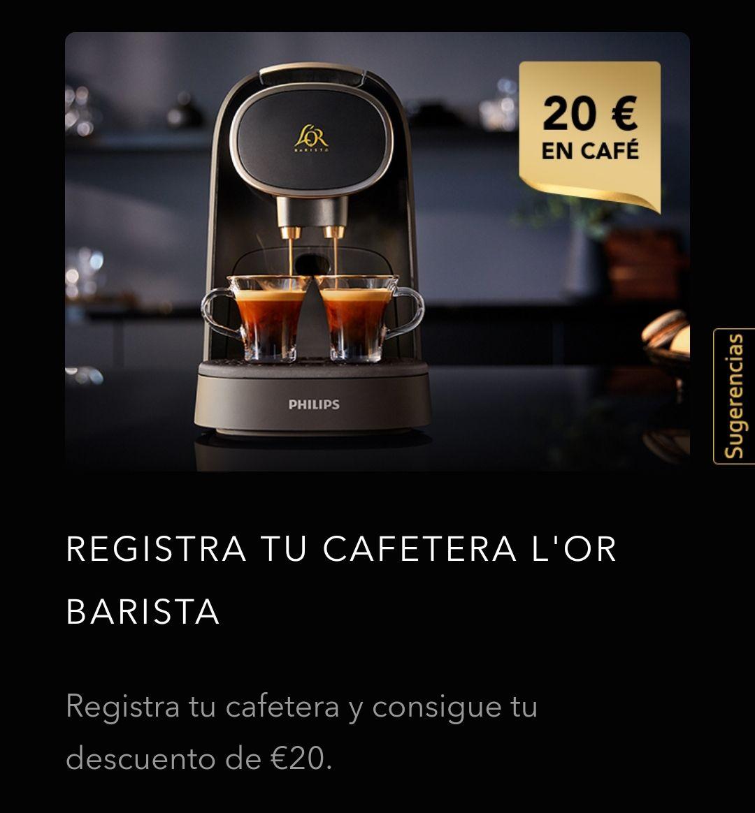 Cafetera Lor Barista registrarla y te dan 20 euros
