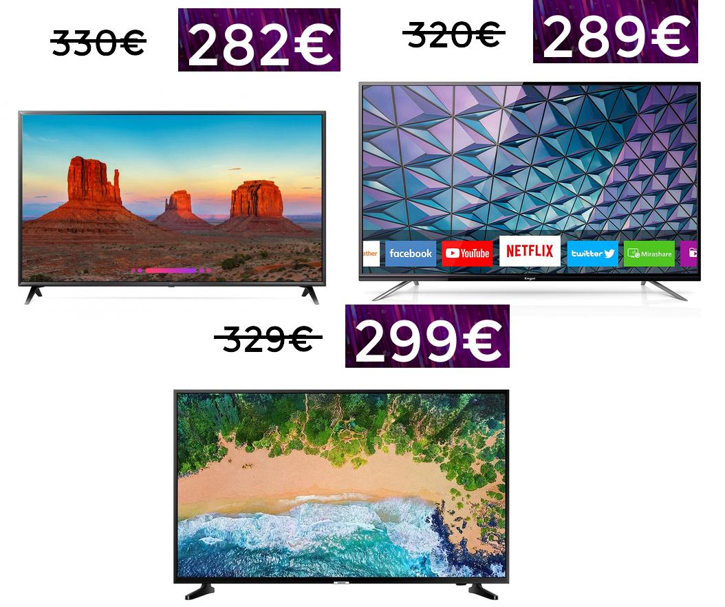 "TVS 4K: Engel 55"" 4K 289€ / Samsung 43"" 4K 299€"