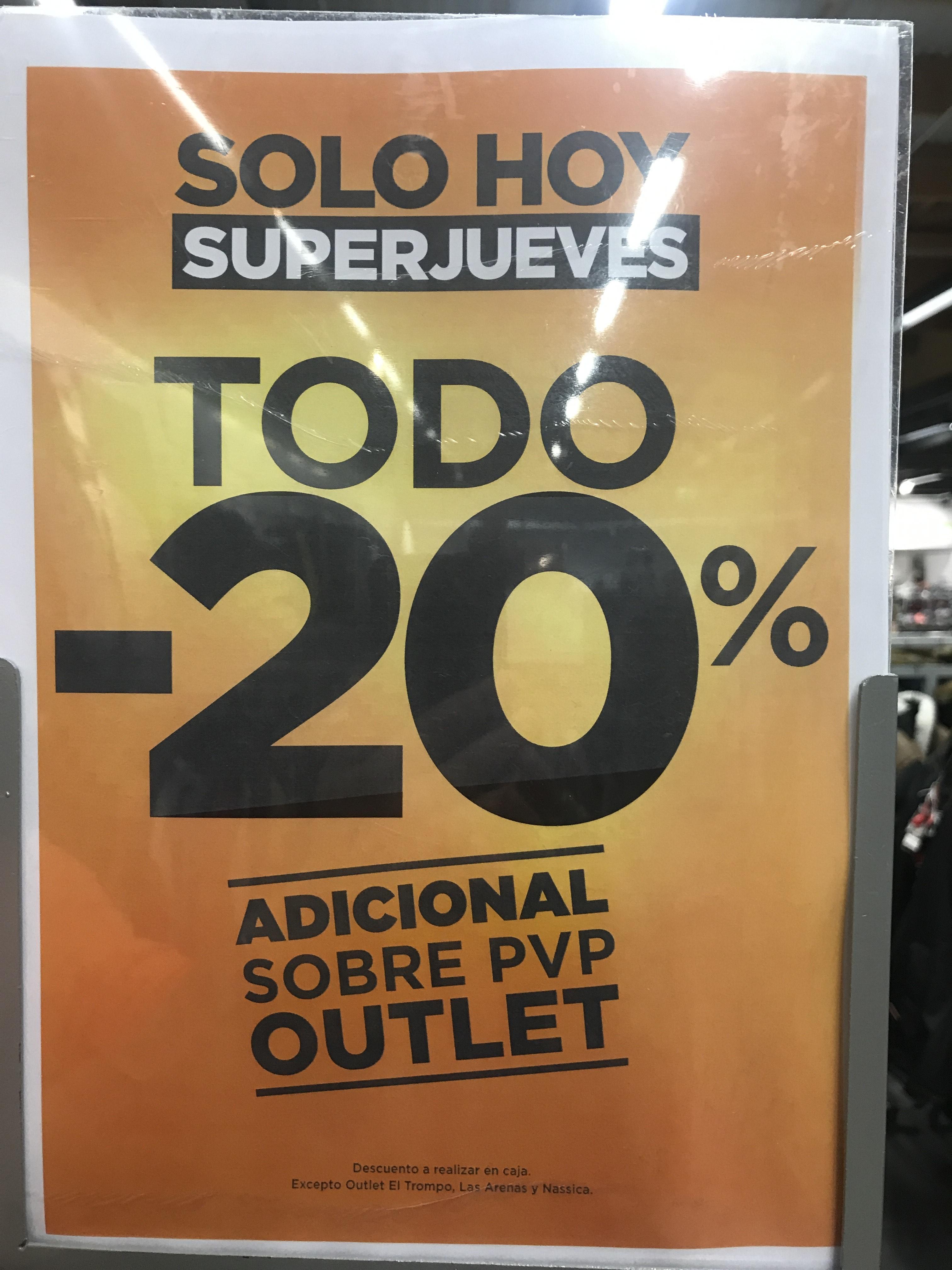 -20% adicional en TODO Outlet El Corte Inglés